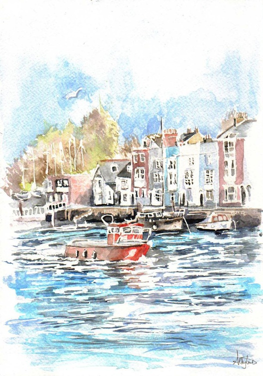 Little Red boat (Weymouth) - Image 0