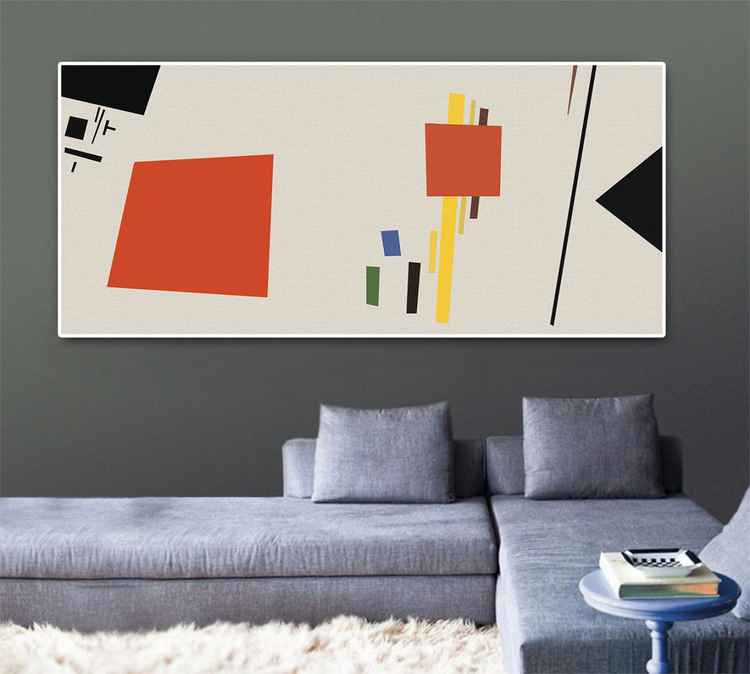 Suprematism,Geometric abstract painting, original painting, 2014 -