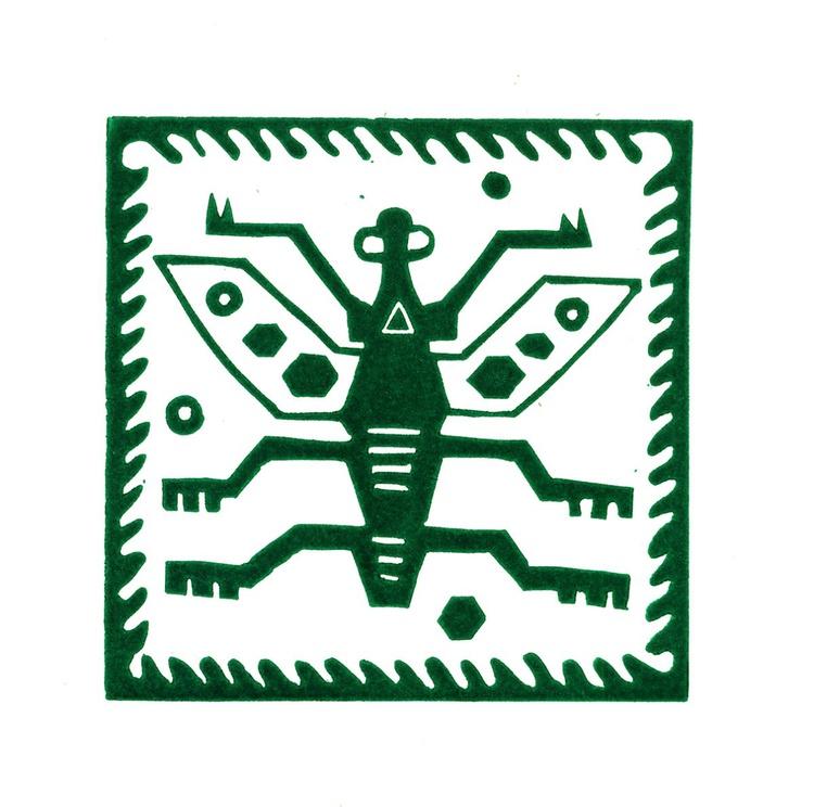 Peru Bug Linocut Hand Pulled Original Relief Print Edition of 30 - Image 0
