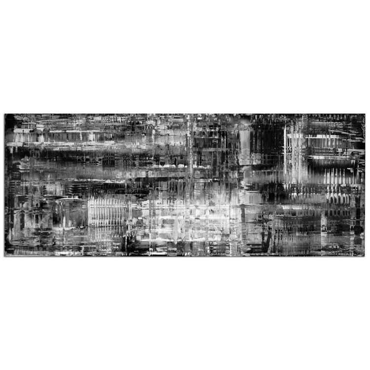 Aporia Black & White   Modern Art, Giclée on Metal