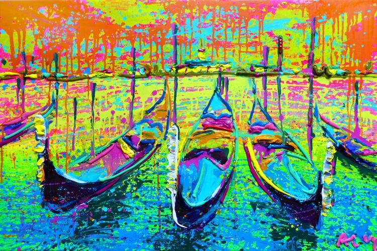 Venice, original oil painting, 90x60 cm - Image 0