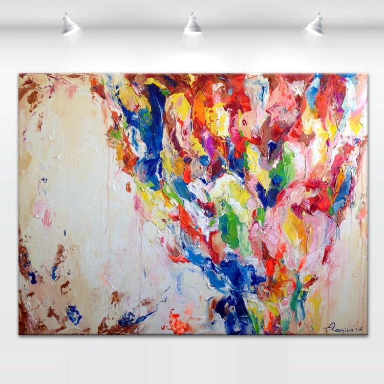 "'Pacific rainbow' - 36x48"" - Image 0"