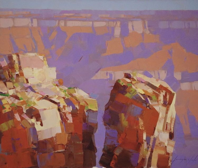Grand Canyon  National Park Landscape oil painting One of a kind Signed Hand Painted - Image 0