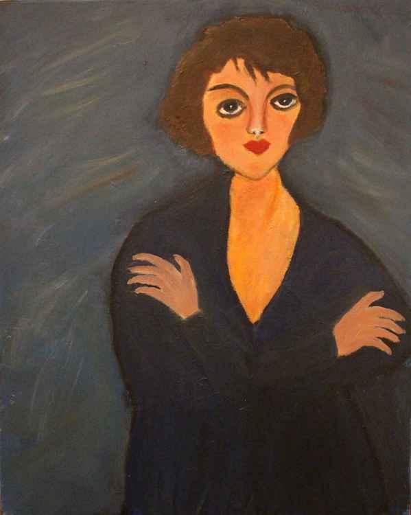 Baby Blue - original oil painting -