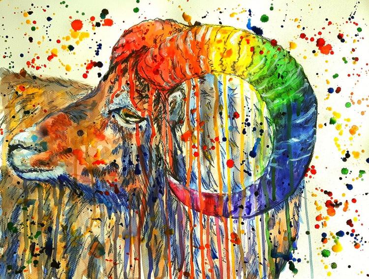 """""""Rainbow ram"""" - Image 0"""