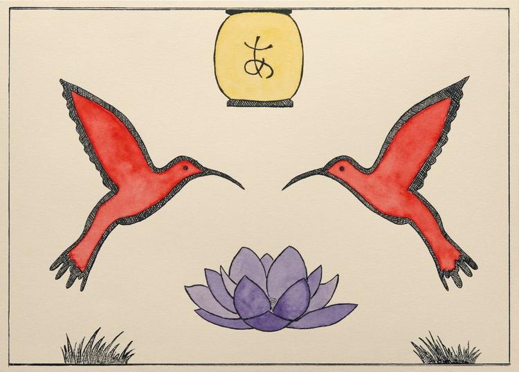 Two hummingbirds - Image 0