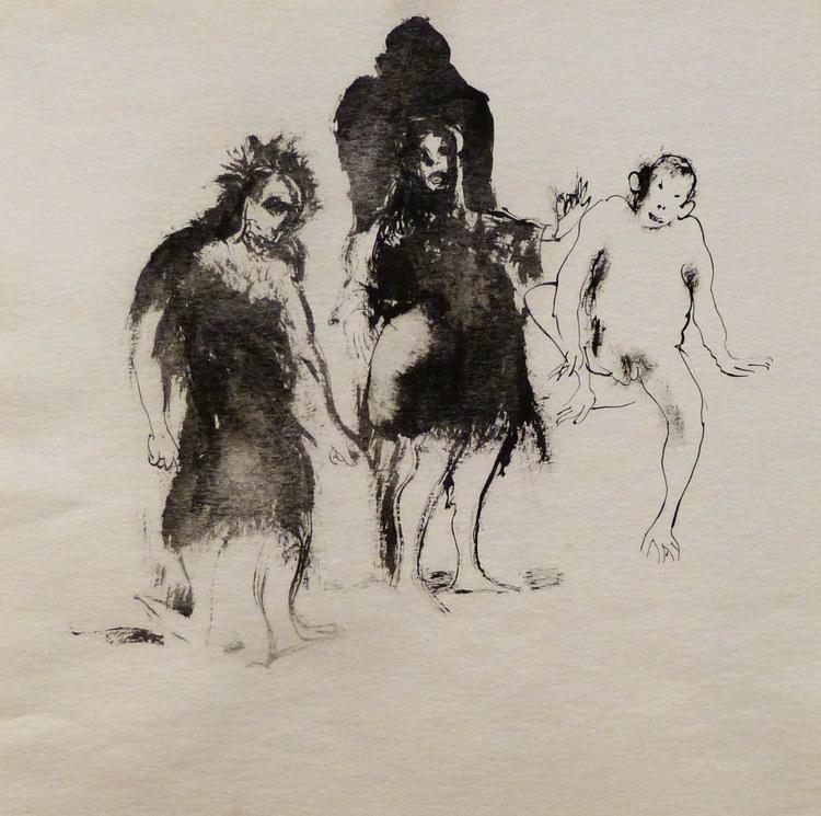 Monkeys, 30x30 cm - Image 0