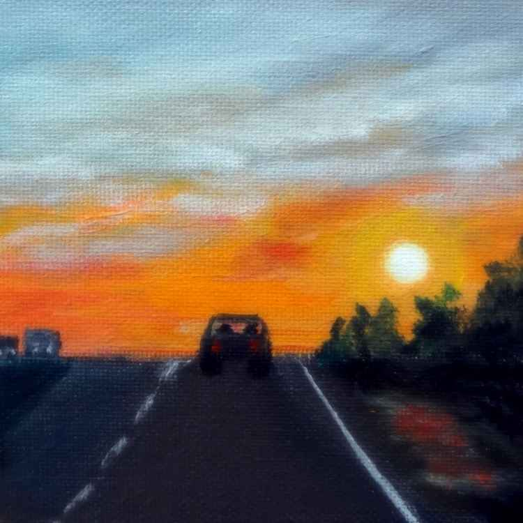 Nebraska Highway Sunset