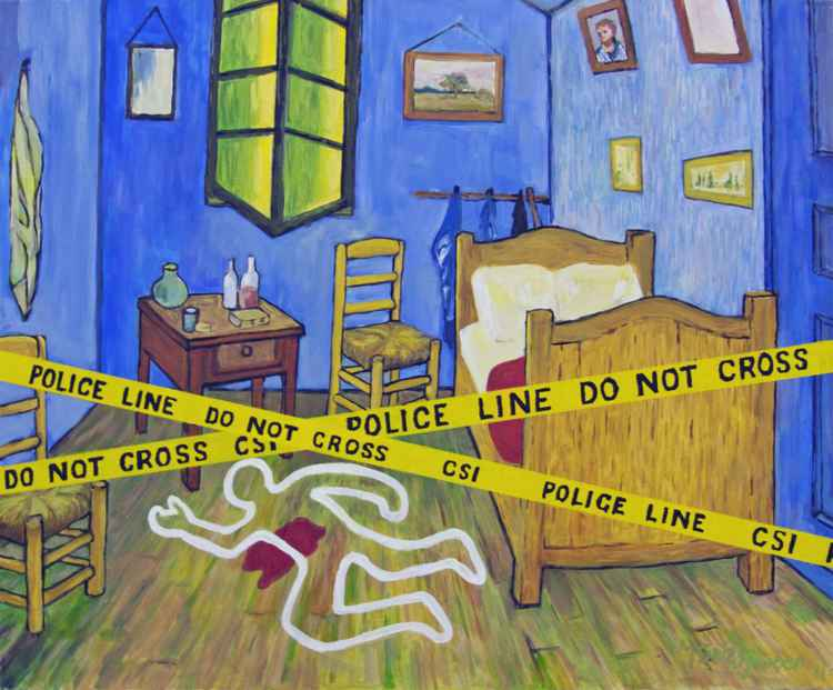 Kieth Haring visits van Gogh's Room -