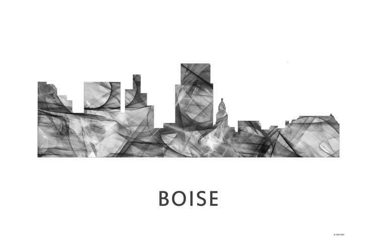 Boise Idaho Skyline WB BW