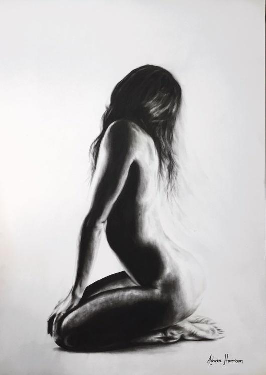 Nude Woman Charcoal Study 25 - Image 0