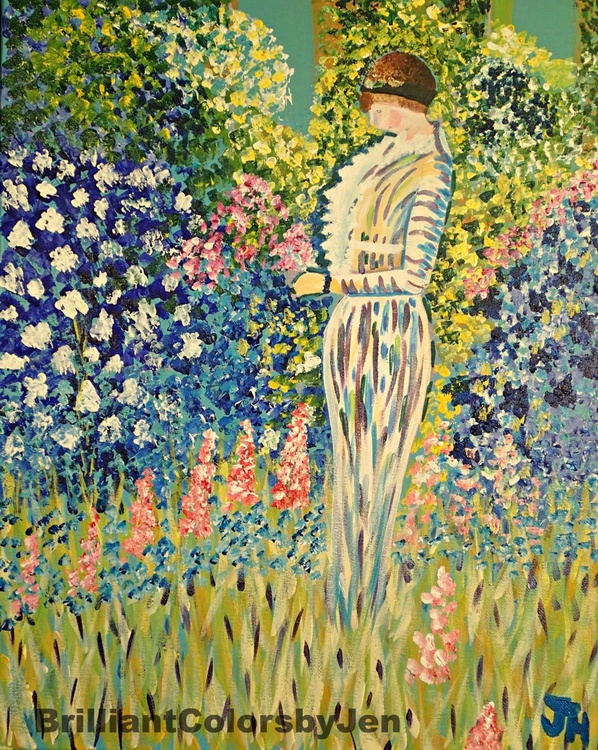 Lady in the Garden - Image 0