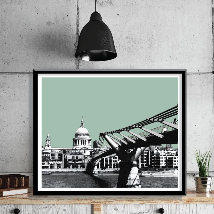London Art Print, St Paul's Cathedral - Image 0