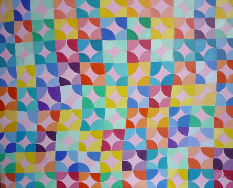 Erratic pattern in pastels - Image 0