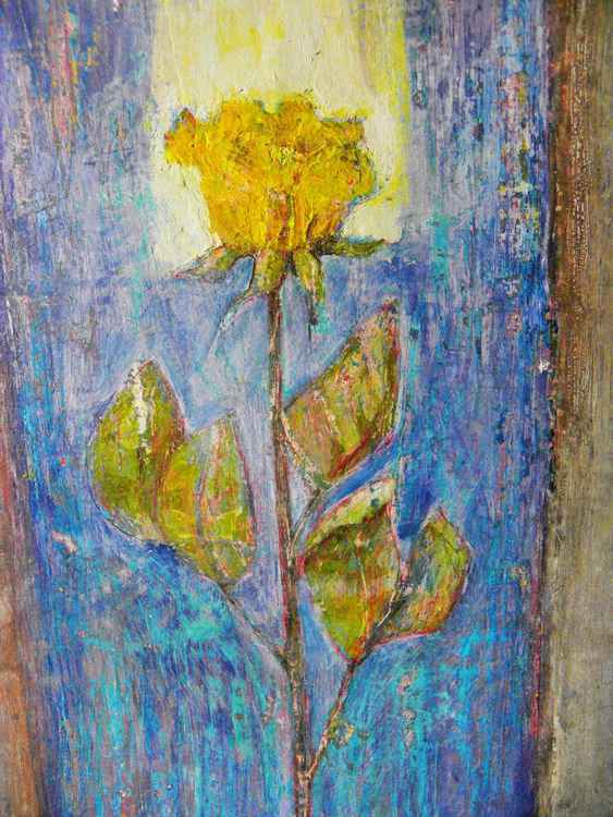 Yellow rose  (fresco series) -
