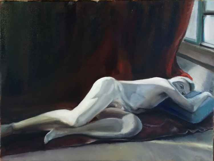 John nude in the yoga studio -