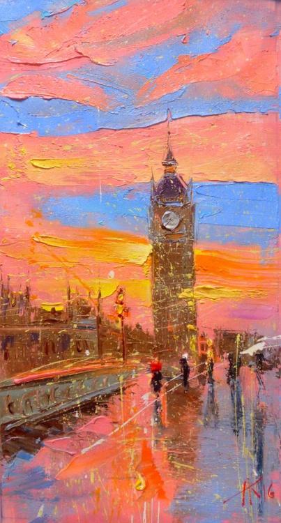 London, oil painting 40x75 cm - Image 0