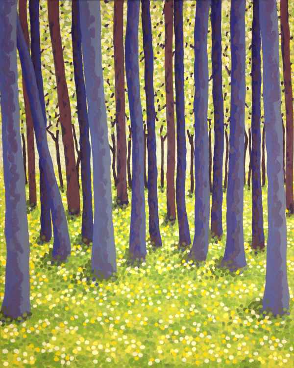 Original Painting of 'Spring Trees' by Kirstin Wood -