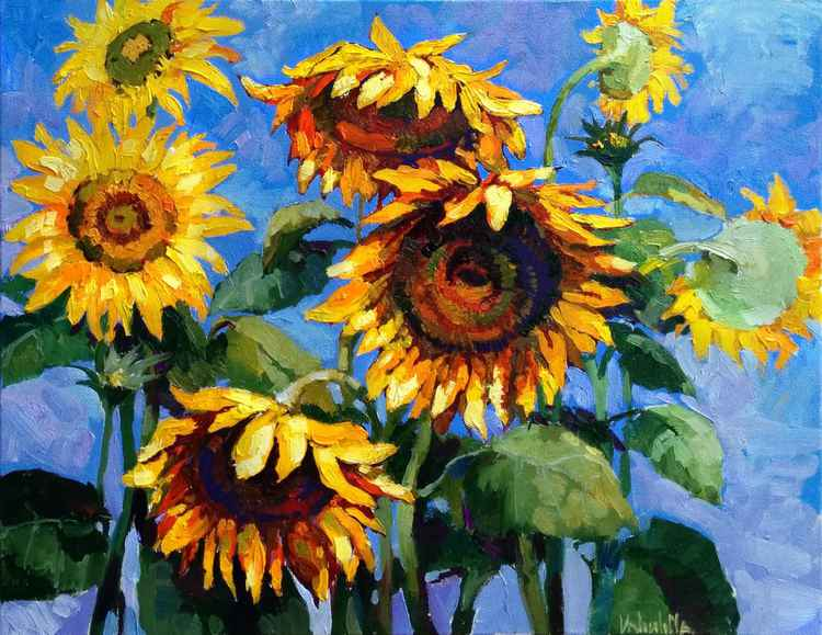 Sunflowers oil painting -