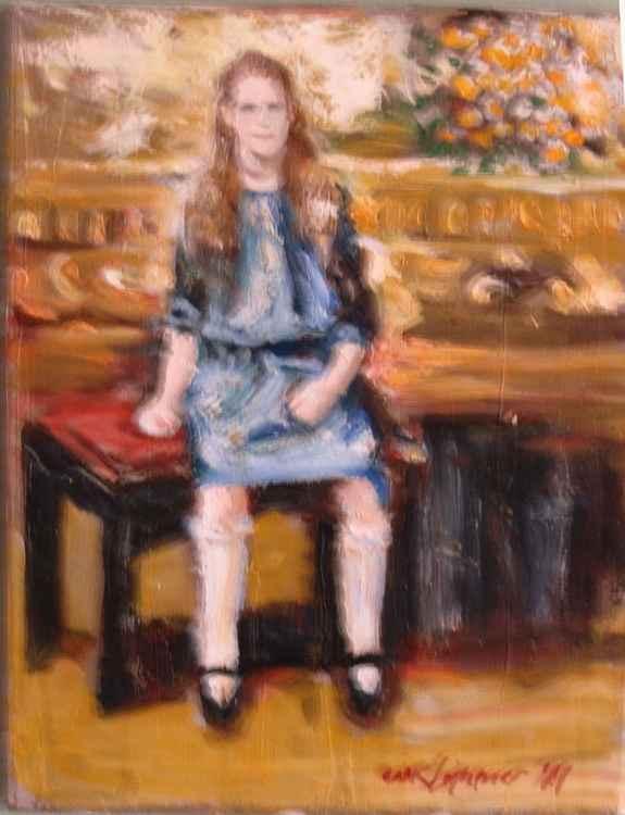 Girl in Studio Portrait -