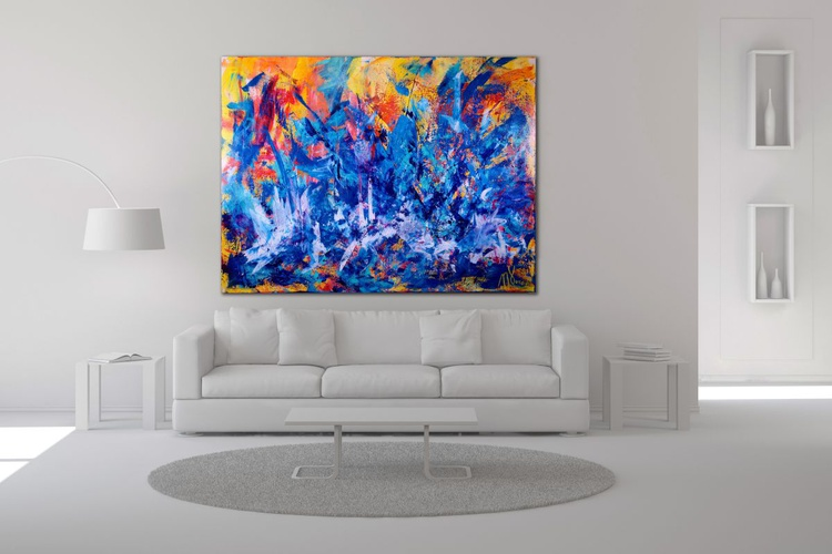 The Faces of Blue - HUGE STATEMENT PIECE! - Image 0