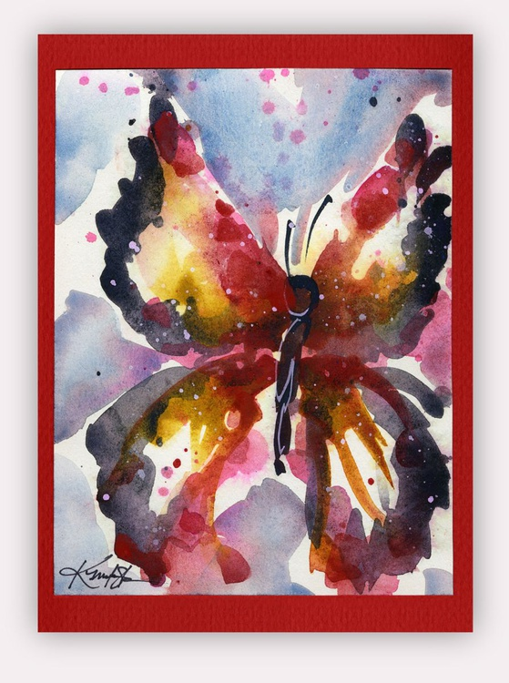 Butterfly Watercolor Painting - Butterfly Delight No. 18 - Image 0