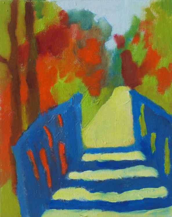 Blue Forest Walking Bridge -
