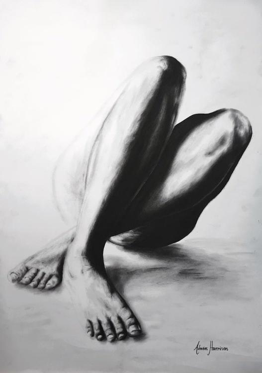 Nude Woman Charcoal Study 21 - Image 0