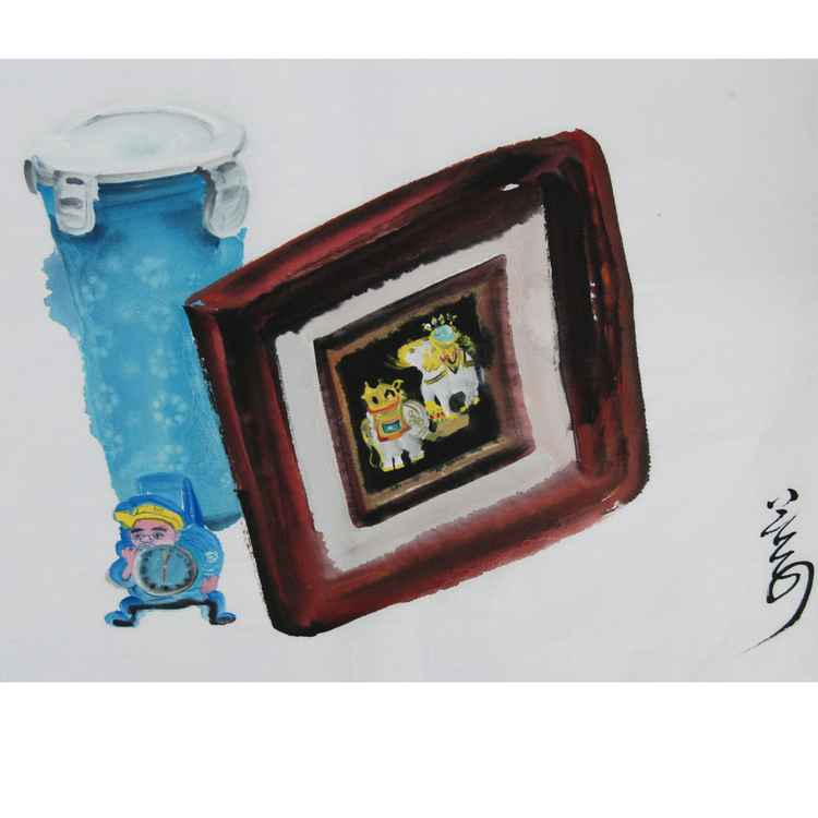 frame and bottle -