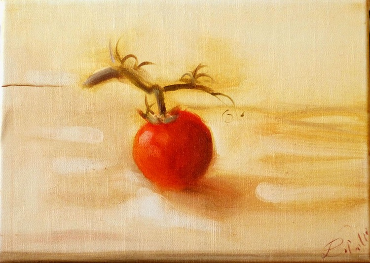 Still Life: The Tomato, oil on canvas 33x24 cm, ready to hang - Image 0