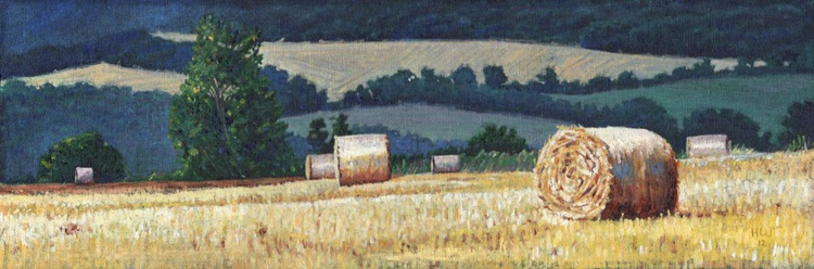 Hay bales on hill - Image 0