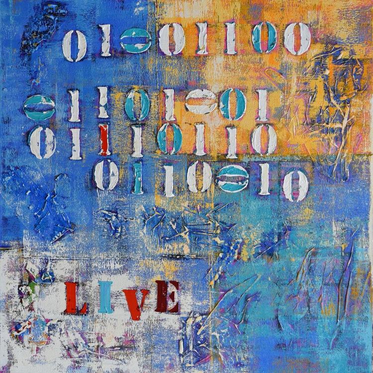 Binary Code Abstract Art - Live - Image 0