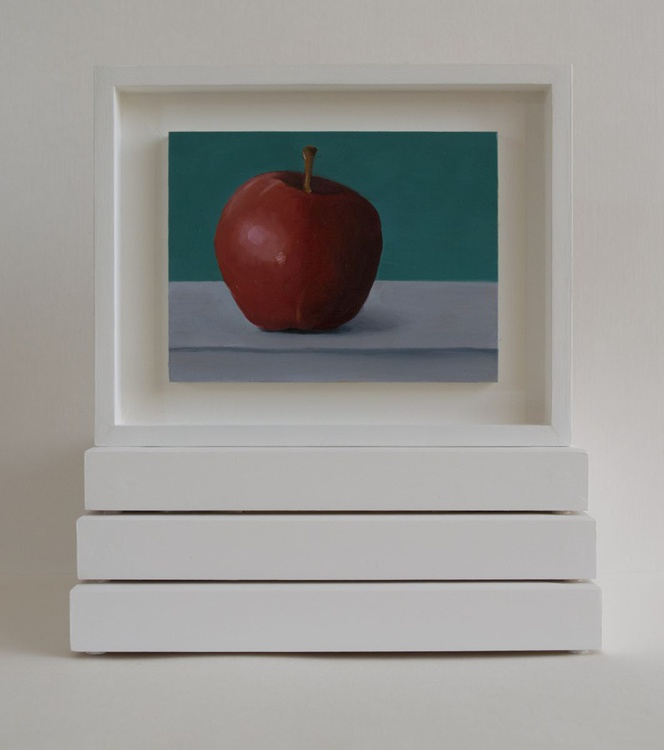 Still life with apple,love  miniature - Image 0