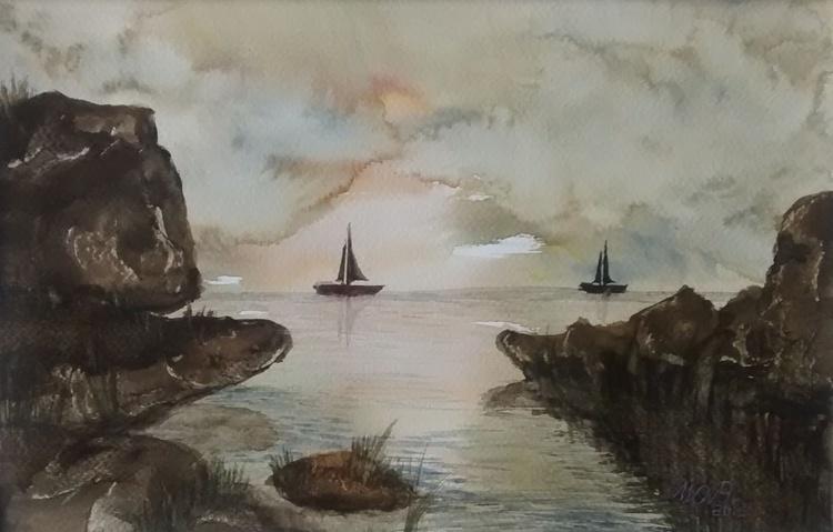 Rocks and boats - Image 0