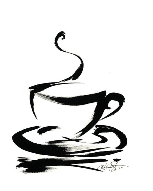 Brushstroke Coffee Cup No.7 - Image 0