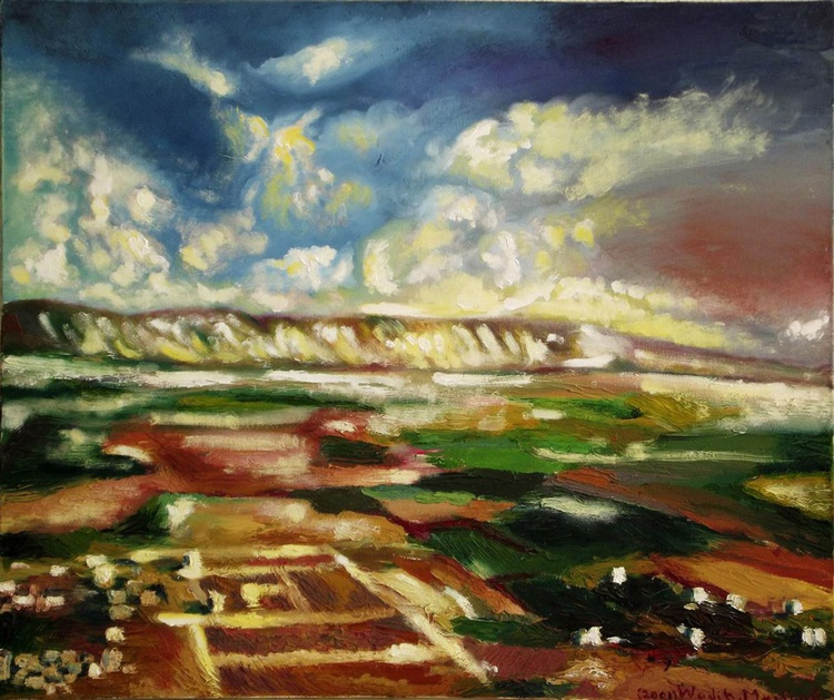 PLAIN VIEW - Corner from my country- Oil painting (60x50cm ) - Image 0