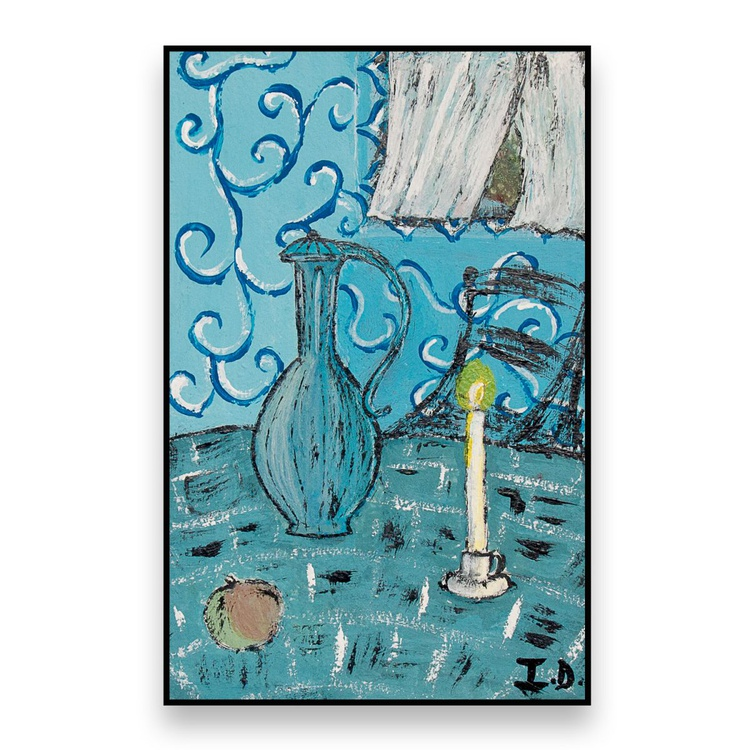 Still life with candle - Image 0