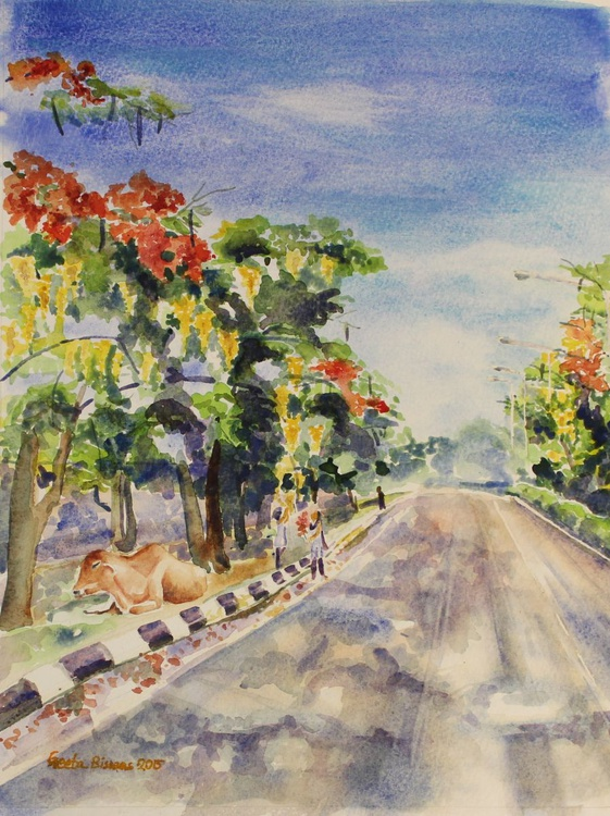 Spring In India watercolor - Image 0