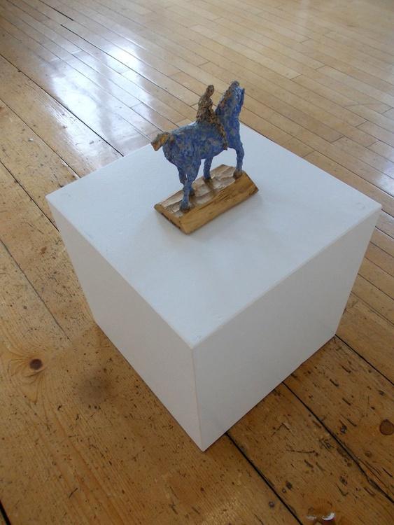 Blue horse - Image 0