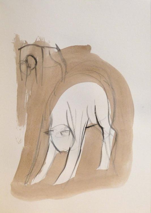 Sketch of a cat, 21x29 cm - Image 0