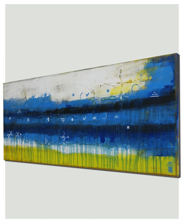 Abstract painting - Talking to the other side - 486 - Image 0