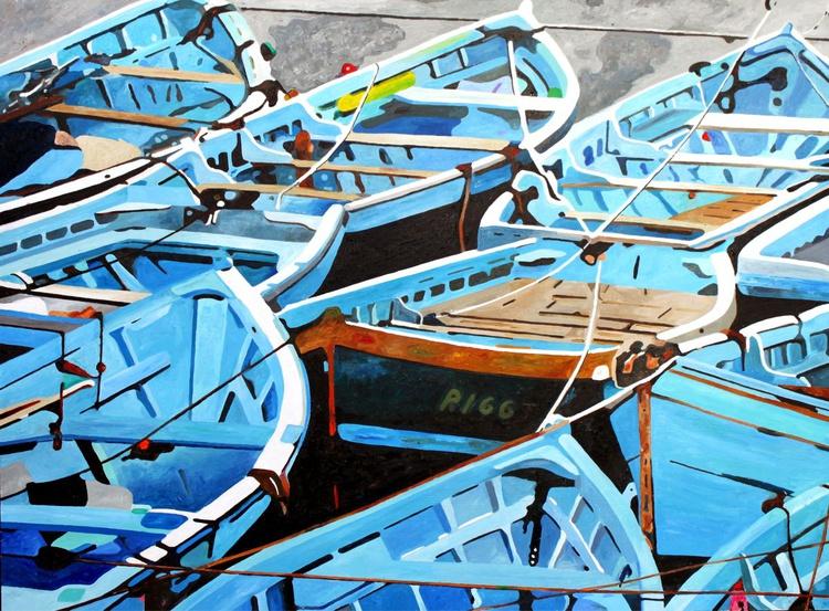 Blue Boats 2 - Image 0