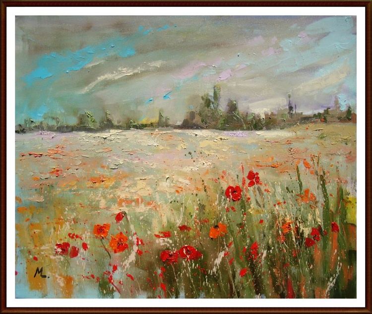 """"""" POPPIES """" - spring flowers meadow - Image 0"""