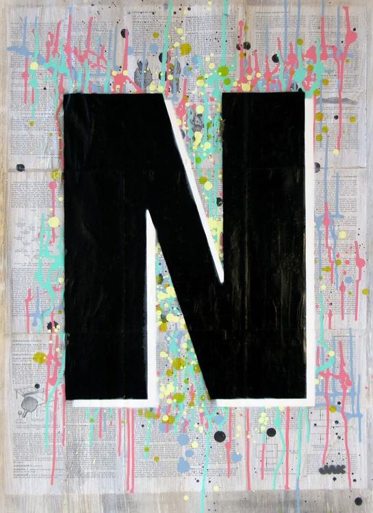 N - Helvetica Heavy Condensed - Image 0