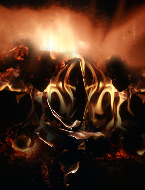 ABSOLUTELLY STUNNING FIRE PHOTOGRAPHY MANIPULATION MASTERPIECE BY OVIDIU KLOSKA ALIEN COSMIC DREAMSCAPE INCANDESCENT READY TO HANG - Image 0
