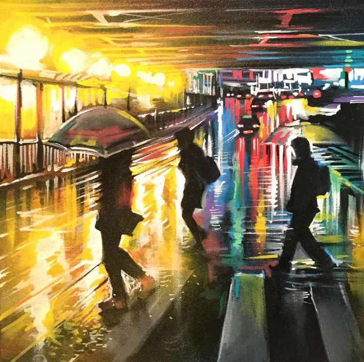 'Tokyo Rain - Study 2' - Original painting