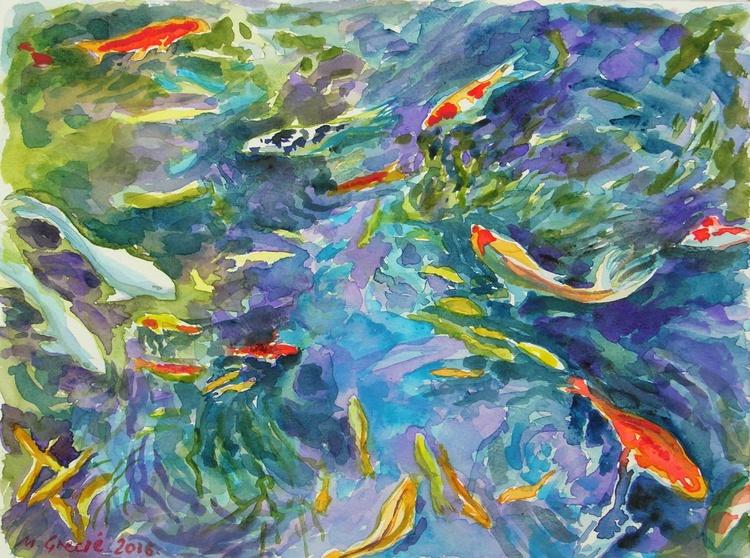 Koi fish pond - Image 0