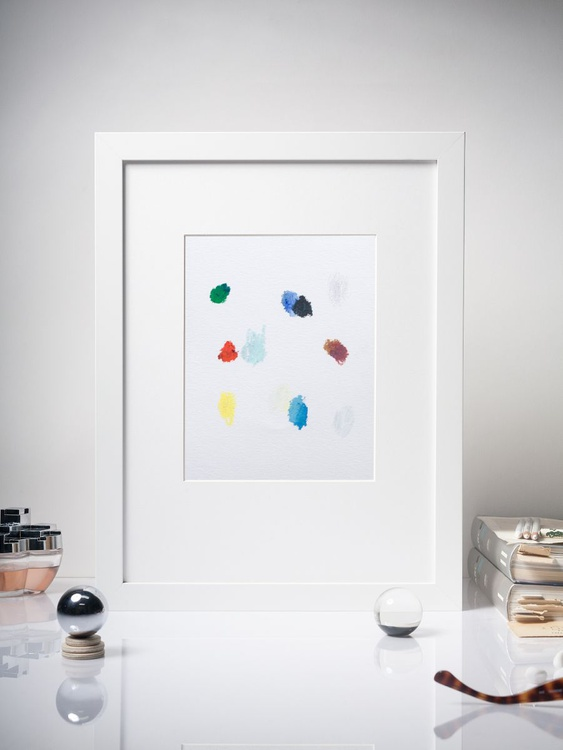 Color Interactions #06 - Contemporary Spot Painting -  Framed 30x40cm - Image 0