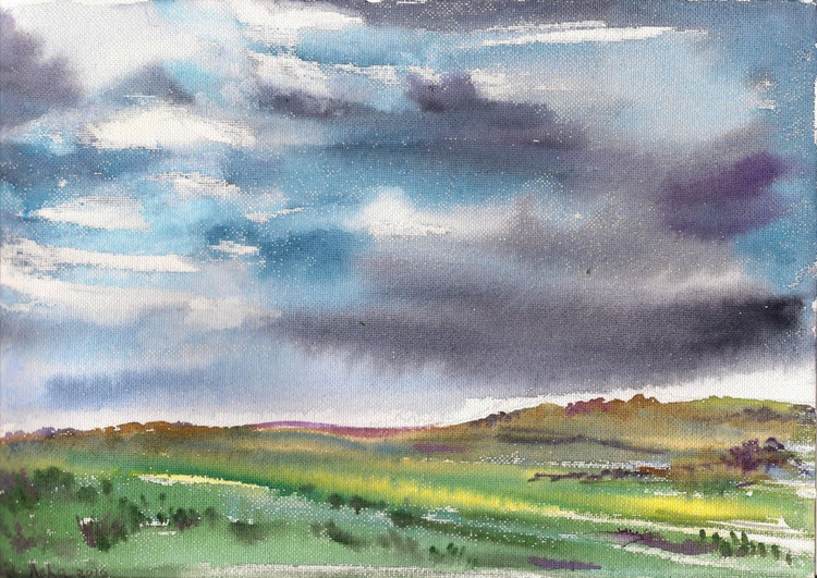 Dark Clouds over the plains-Free Shipping - Image 0