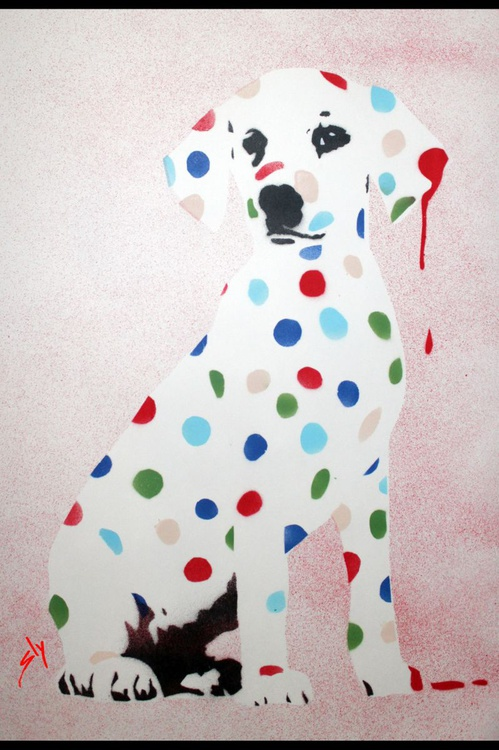Damien's Dotty, Spotty, Puppy Dawg (In girly pink!) + Free Poem - Image 0